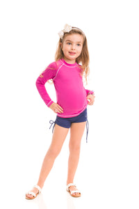 Kids Fpu50+ Uv Colors Long Sleeve T-Shirt Shock Pink Uv