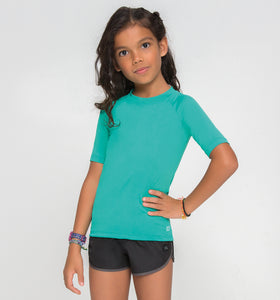 Kids Fpu50+ Uvpro Short Sleeve T-Shirt Mint Green Uv