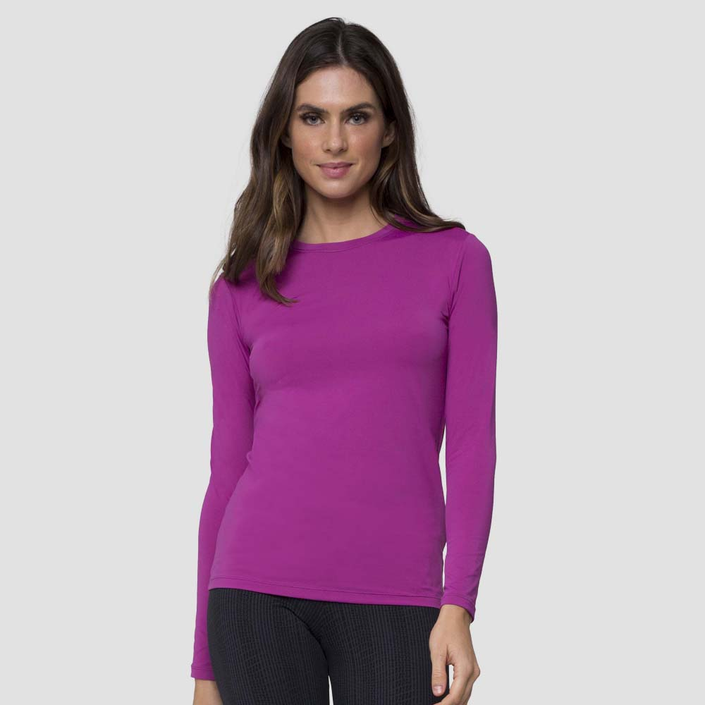 Women Fpu50+ Uvpro Long Sleeve T-Shirt Magenta Uv