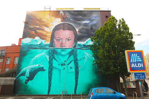Mural-Of-Greta-Thunberg-Tobacco-Factory-Bristol