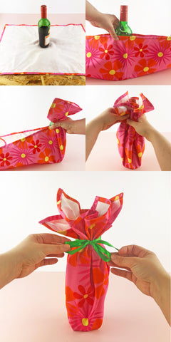 Wrapping-A-Bottle-With-A-Tea-Towel