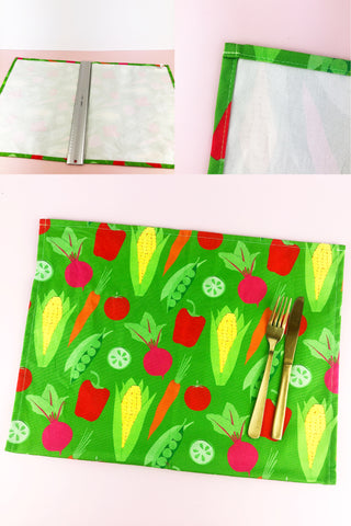 How-To-Make-A-Tea-Towel-Into-2-Placemats