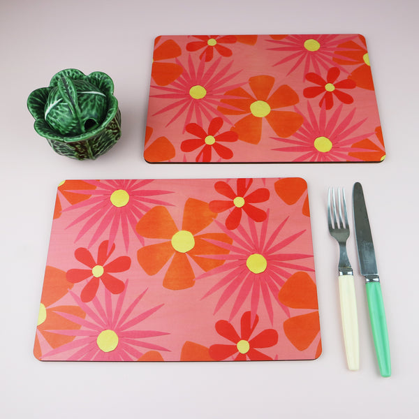 Flower Power Placemats | Set of 2 or 4