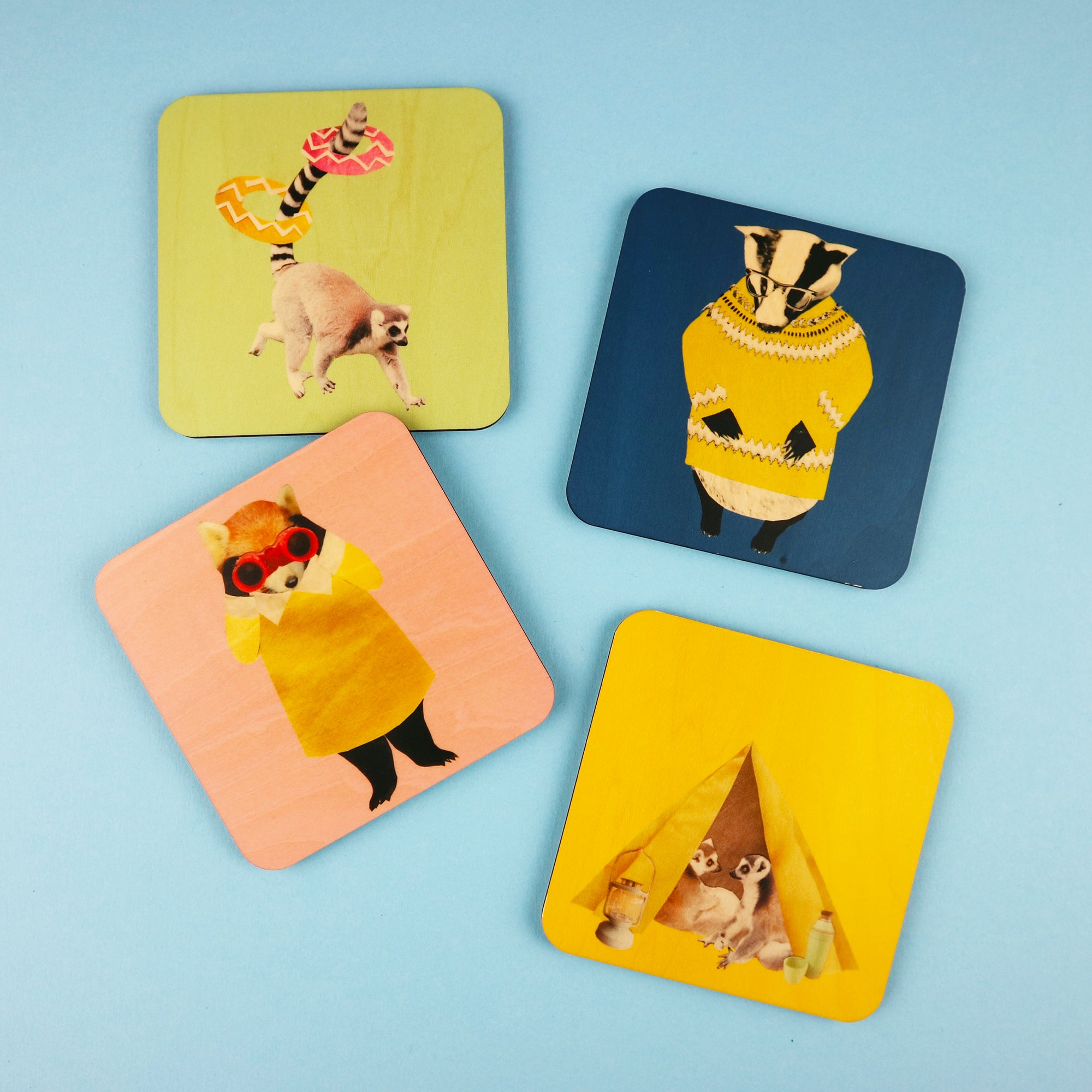 Adventurous Animals Coasters | Set of 4 or Single