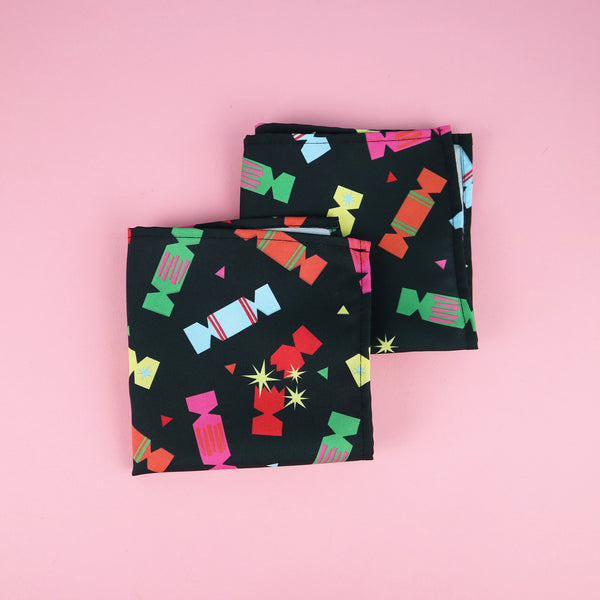 Christmas Cracker Print Napkins | Set of 2, 4 or 6