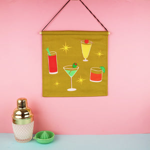 Cocktails Wall Hanging Decoration