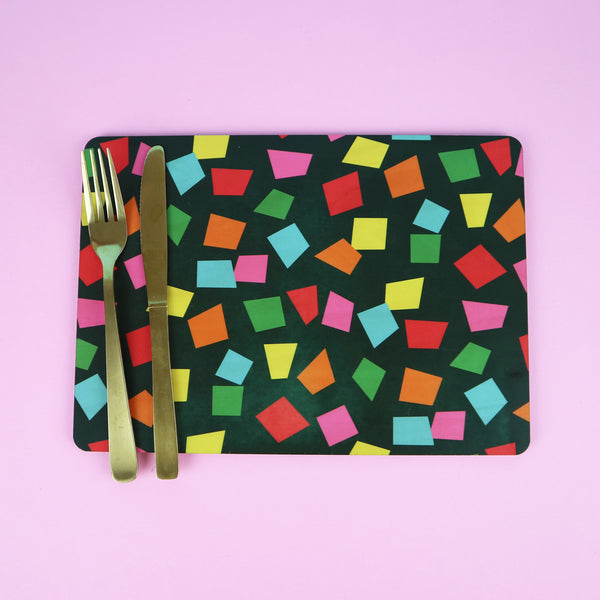 Festive Confetti Placemats | Set of 2 or 4