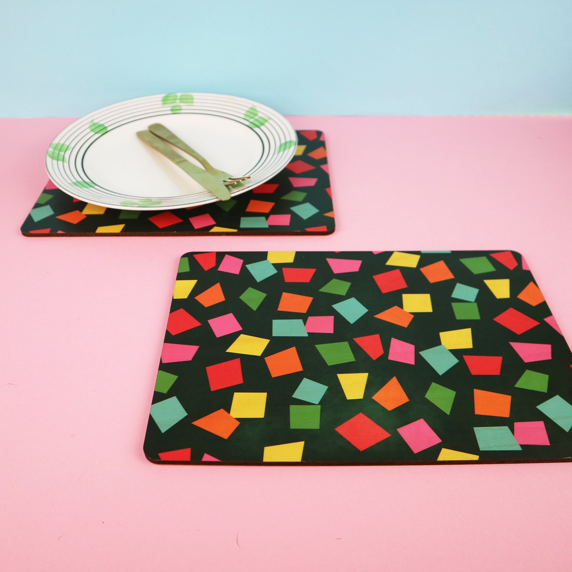 Colourful Confetti Placemats | Set of 2 or 4