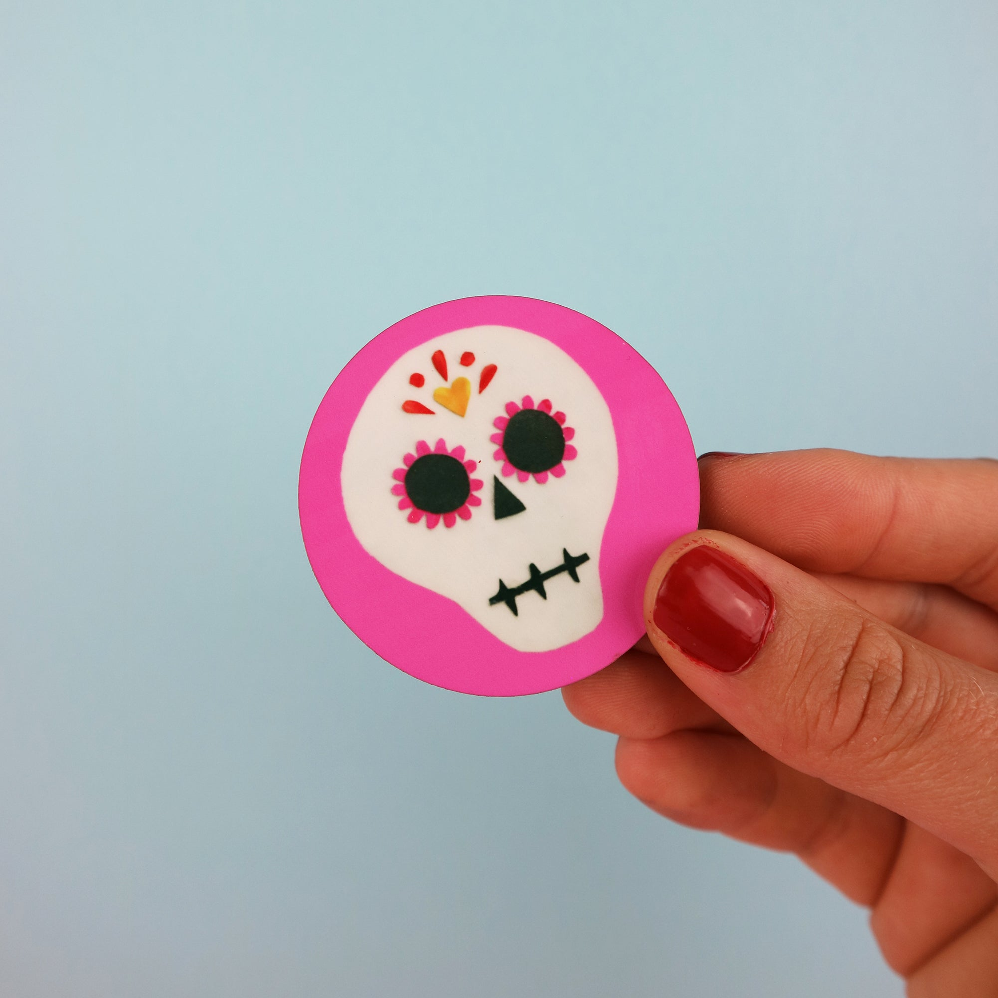 Sugar Skull Halloween Badge