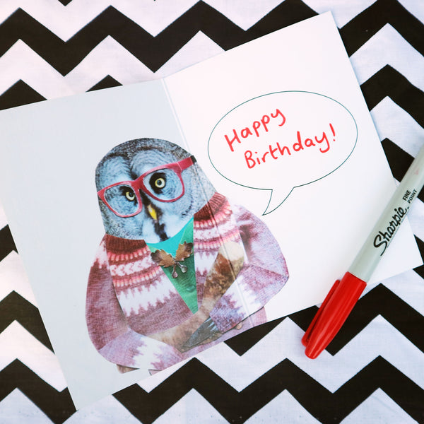 Log Lady Owl Card