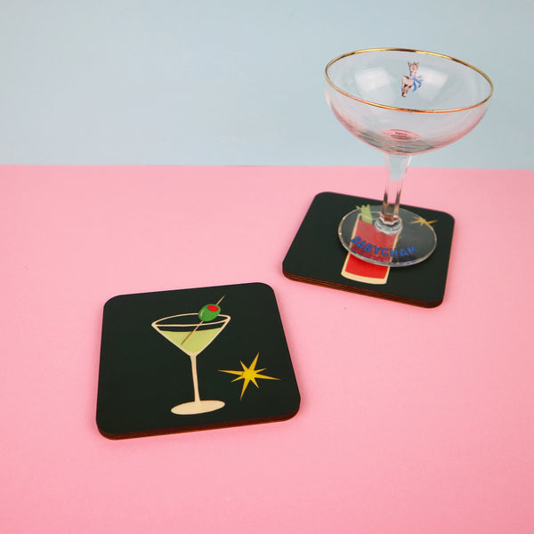 Cocktail Coasters | Set of 4 or Single