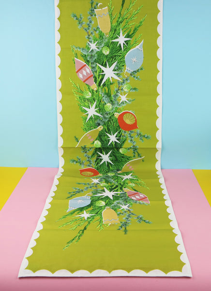 Winter Chartreuse Table Runner