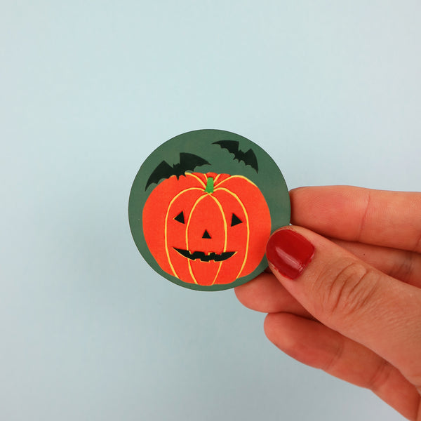 Pumpkin Halloween Badge