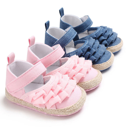 0-18 Months Newborn Infant Toddler Baby Girl Soft Sole Crib Shoes First Walkers - shopbabyitems