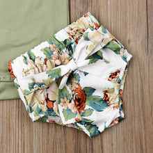 Load image into Gallery viewer, 0-24M  Newborn Infant Baby Girls Clothes Ruffle Sleeve Romper Floral Shorts Outfit - shopbabyitems