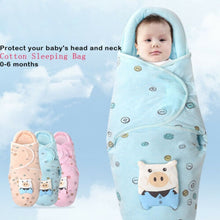 Load image into Gallery viewer, 0-8M Newborn Baby Cotton Blanket Swaddle Cute Cartoon Toddler Winter Warm Sleeping Bags Sleep Sack Little Baby Stroller Wrap - shopbabyitems