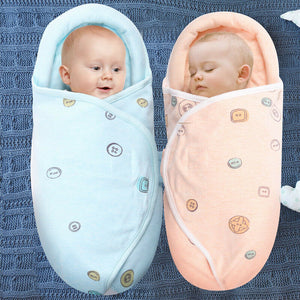 0-8M Newborn Baby Cotton Blanket Swaddle Cute Cartoon Toddler Winter Warm Sleeping Bags Sleep Sack Little Baby Stroller Wrap - shopbabyitems