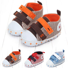 Load image into Gallery viewer, Infant Toddler Baby Girl Boy Star Stripe Canvas Casual Soft Sole Walking Shoes - shopbabyitems