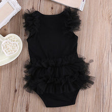 Load image into Gallery viewer, Kid Baby Girls Cute Lace Ruffle Letter Print Sleeveless Bodysuit Romper Jumpsuit - shopbabyitems