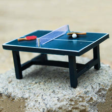 Load image into Gallery viewer, Children Gift 1:12 Dollhouse Miniature Table Tennis Set Realistic Wooden Toy - shopbabyitems