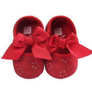 Cute Bowknot Baby Girls Infant Cotton Soft Anti-Slip Princess Floral Shoes Gift - shopbabyitems