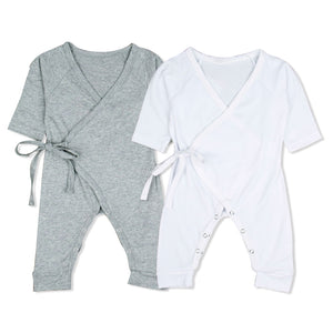 Lovely Angel Wings Long Sleeve Baby Romper Infant Boys Girls Cotton Jumpsuit - shopbabyitems