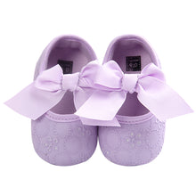 Load image into Gallery viewer, Toddler Baby Girl Crib Shoes Princess Bowknot Slip-on Embroidered Prewalker - shopbabyitems
