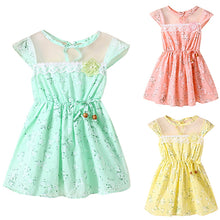 Load image into Gallery viewer, Baby Kids Girl Lace Floral Print Princess Cute Bowknot Wedding Party Summer Dress - shopbabyitems