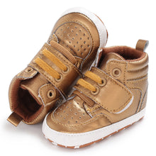 Load image into Gallery viewer, High Top Lace Up Baby Boy Girl Sports Prewalker Crib Shoes Toddler Sneakers - shopbabyitems
