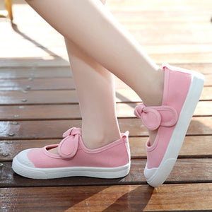 Children Infant Baby Girl Canvas Shoes Bowknot Little Princess Anti-Slip Shoes - shopbabyitems