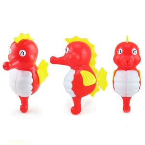 Lovely Cartoon Animal Swimming Hippocampus Wind-up Clockwork Baby Bath Toys - shopbabyitems