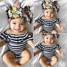 Load image into Gallery viewer, Ruffles Striped Baby Clothes Romper Newborn Baby Girl Jumpsuit Playsuit Outfit - shopbabyitems
