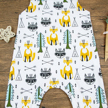 Load image into Gallery viewer, Toddler Baby Boy Girl Kids Fox Tree Romper Summer Sleeveless Jumpsuit Clothes - shopbabyitems