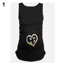 Load image into Gallery viewer, Women's Fashion Casual Heart Print Comfortable Soft T-shirt Vest for Pregnant - shopbabyitems