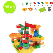 Load image into Gallery viewer, Marble Race Run Maze Balls Track Building Blocks ABS Funnel Slide - shopbabyitems