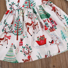 Load image into Gallery viewer, 1-7Years Christmas  Dress Kids Baby Girl Deer Sleeveless Party Dress - shopbabyitems