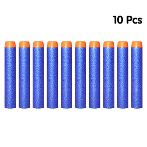 100PCS Soft Bullets For Nerf Bullets Soft Hollow Hole Head 7.2cm Refill Darts Toy Gun Bullets Series Blasters Kid Children Gift - shopbabyitems