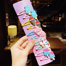 Load image into Gallery viewer, 10PCS/Set New Girls Cute Cartoon Ice Cream Unicorn Hairpins Kids Lovely Hair Clips Barrettes Headband Fashion Hair Accessories - shopbabyitems
