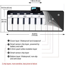 Load image into Gallery viewer, 110x36cm Electronic Musical Mat Carpets Keyboard Baby Piano Play Mat Toy - shopbabyitems