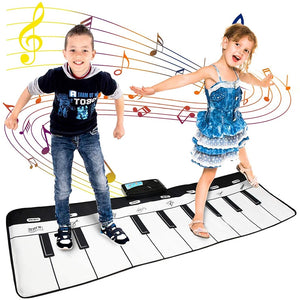 110x36cm Electronic Musical Mat Carpets Keyboard Baby Piano Play Mat Toy - shopbabyitems