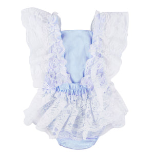 Toddler Infant Newborn Baby Girl Sweet Lace Ruffled Romper Bodysuit One-Piece - shopbabyitems