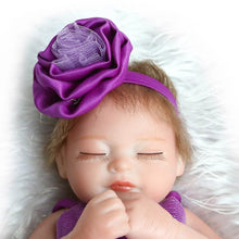 Load image into Gallery viewer, 10 Inch Silicone Body Simulation Reborn Doll Sleeping Girl Baby Gift Bathing Toy - shopbabyitems