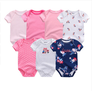 Newborn Baby Rompers Clothing 7Pcs/Lot Infant Jumpsuits - shopbabyitems