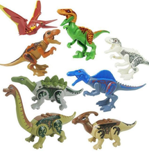 Load image into Gallery viewer, Jurassic Park dinosaur building blocks assembled educational toys 8 bags - shopbabyitems