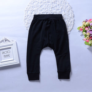 Newborn Toddler Baby Boy Girl Long Trousers Boss Letter Print Harem Pants Gift - shopbabyitems