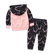 Load image into Gallery viewer, Newborn Baby Infant Kid Girl Antler Pattern Hoodie + Pants Outfit Clothes Set - shopbabyitems