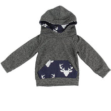 Load image into Gallery viewer, 2Pcs Toddler Kids Boy Girl Clothes Set Elk Hooded T-Shirt Top + Pants Outfits - shopbabyitems