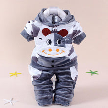 Load image into Gallery viewer, Lovely Baby Boys Girls Cow Pattern Coat + Long Pants Two-piece Dress Outfits - shopbabyitems