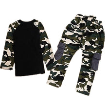 Load image into Gallery viewer, Kids Boys Girls Spring Autumn Camouflage Long Sleeve T-shirt Long Pants Clothing Set - shopbabyitems