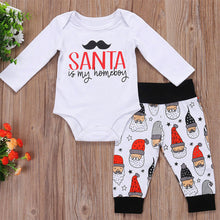 Load image into Gallery viewer, Lovely Letter Print Romper Santa Claus Pants Baby Boys Girls Christmas Outfit - shopbabyitems